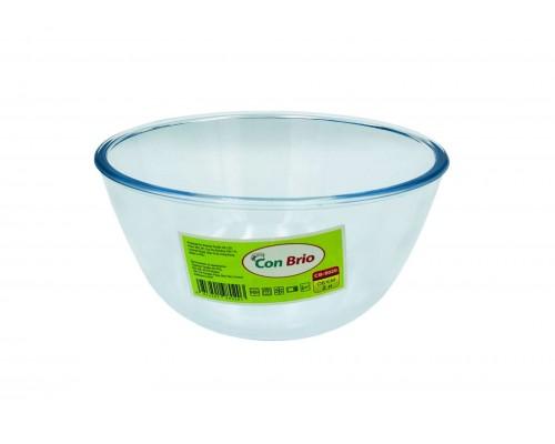 Стеклянный салатник Con Brio CB-8020