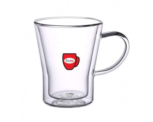 Набор чашек с двойными стенками Con Brio CB-8528