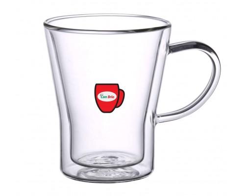Набор чашек с двойными стенками Con Brio CB-8535